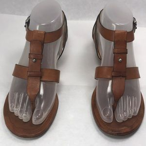 COACH Vivian Gladiator Sandal Tan Leather Size 7B